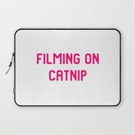 Filming on Catnip Pet Stunt Coordinator Quote Laptop Sleeve