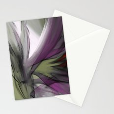 Flowy Abstract Flowers 2 Stationery Cards