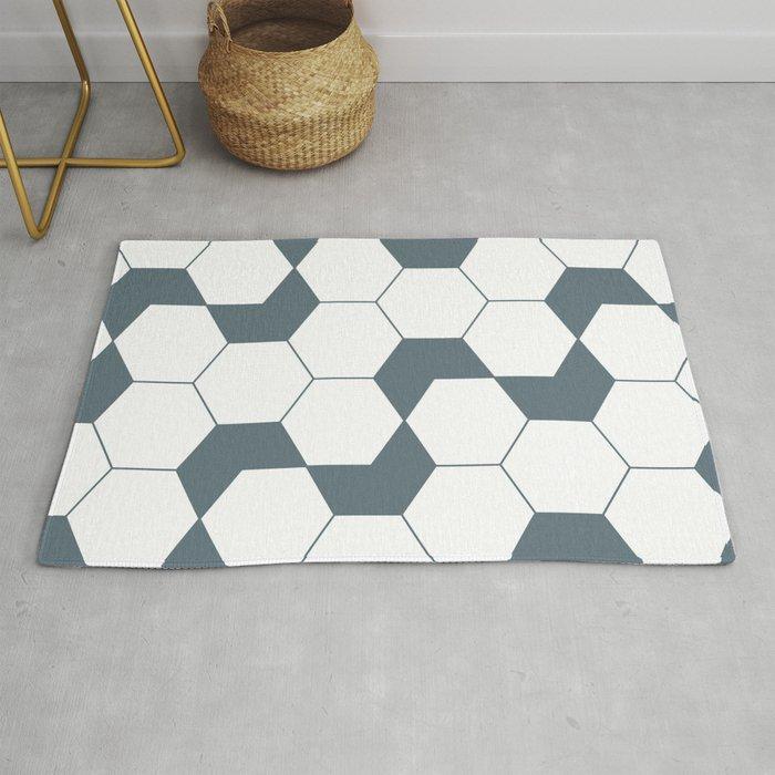 Geometric Pattern 46 Gray Hexagons