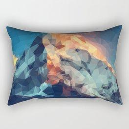 Mountain low poly Rectangular Pillow