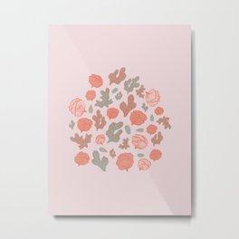 Pink Sea shell bouquet Metal Print