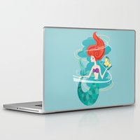 little mermaid Laptop & iPad Skins featuring Little Mermaid by LindseyCowley