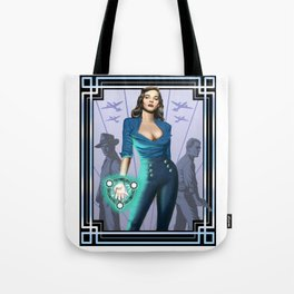 Tower's Alchemist 1950s World War II Woman Wizard Tote Bag