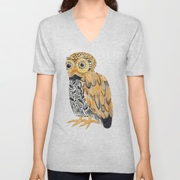 Harvest Owl Unisex V-Neck