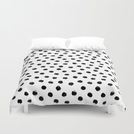 Polka Dots Black and White Duvet Cover