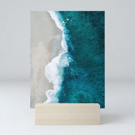 the line of the shore Mini Art Print