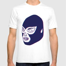 Lucha Libre Mask Mens Fitted Tee White MEDIUM