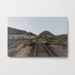 Derailed Train Metal Print