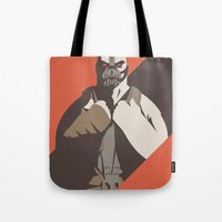 bane Tote Bags featuring Bane by Florey