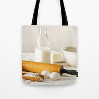 cooking Tote Bags featuring Vintage Cooking by diane555