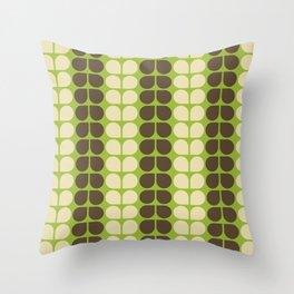 Retro leaf Throw Pillow