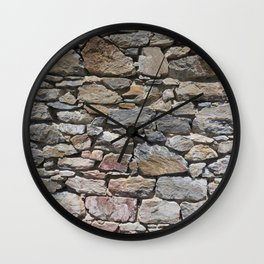 Stone wall of ghost town Wall Clock