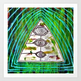 psychedelic surfer vomit Art Print