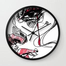Tear_ line Wall Clock
