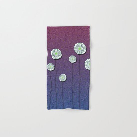 Abstract Flower Design Hand & Bath Towel