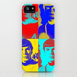 Science Officer Spock (Andy Warhol Remix) iPhone Case
