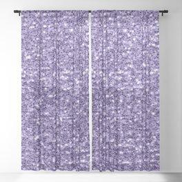 Ultra violet purple glitter sparkles Sheer Curtain