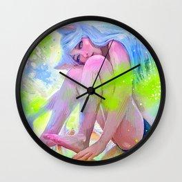 Neko_ Hanekawa Cat Wall Clock