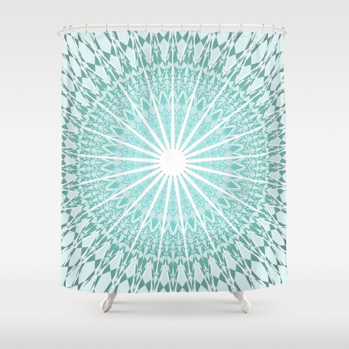 Mint Mandala Shower Curtain