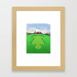 Crop Circles Disc Golf Artwork Framed Art Print