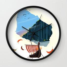 Bornholm map Wall Clock