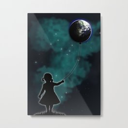 The Girl That Holds The World Metal Print