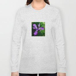Wild Purple Iris Long Sleeve T-shirt