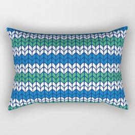 Knitted pattern Rectangular Pillow