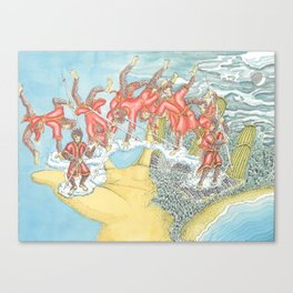 Jumping Buddha's Hand Canvas Print