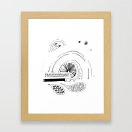 HA HA HA Framed Art Print