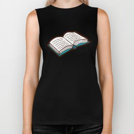 Bookish Reading Pattern in Red Biker Tank