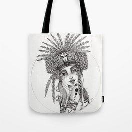 JennyMannoArt Graphite Drawing/Aiyana Tote Bag