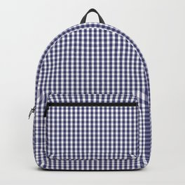 USA Flag Blue and White Gingham Checked Backpack