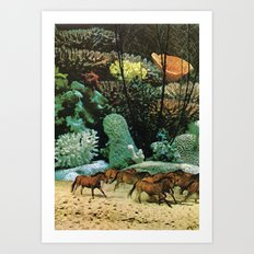 Staldmanden Art Print