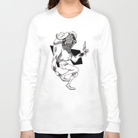 bison Long Sleeve T-shirts featuring Bison by Hopler Art