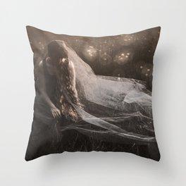 Dreaming of a white wedding Throw Pillow