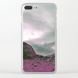 Pink Norway - Norwegian Lapponian Gate Clear iPhone Case