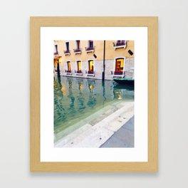 Venice Waterway Framed Art Print