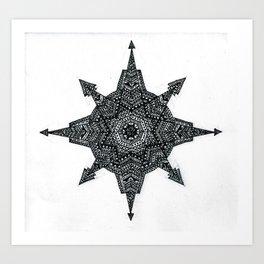 Aztec compass Art Print
