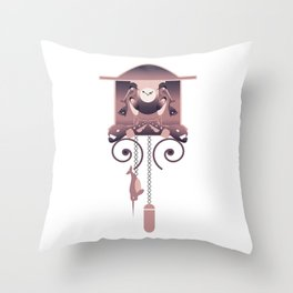 SteamPunk Clock Throw Pillow