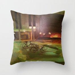 ghost bikes Throw Pillow