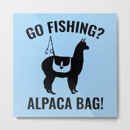Alpaca Bag! Metal Print