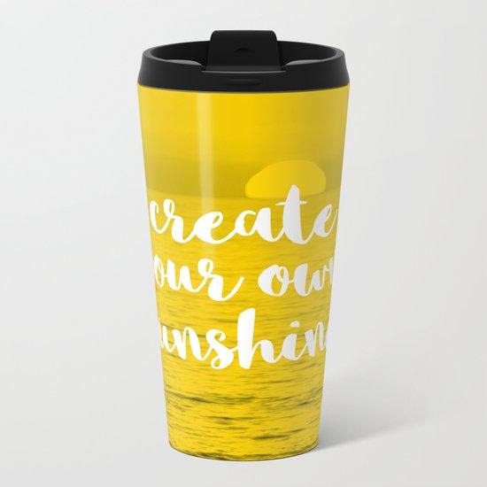 Create Your Own Sunshine Metal Travel Mug By Oddmatter