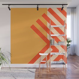 GEOMETRY ORANGE II Wall Mural
