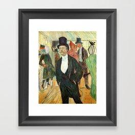 """Henri de Toulouse-Lautrec """"Monsieur Henri Fourcade au Bal de l'Opéra"""" Framed Art Print"""