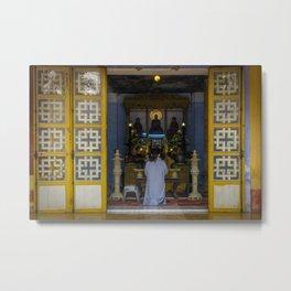 Hue Temple Doorway Metal Print