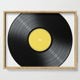 Yellow Music Record Serving Tray
