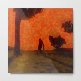 Lonely Bigfoot by SK Metal Print