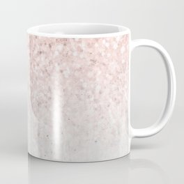 She Sparkles Rose Gold Pink Concrete Luxe Coffee Mug
