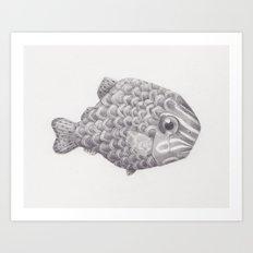 Emo Fish Art Print